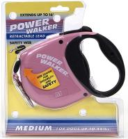 Coastal Pet Products 8701 Power Walker Retractable Leash, Pink - Medium