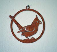 Elegant Garden Design Cardinal Ornament