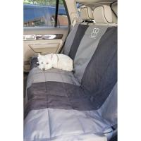Velvet Rear Seat Protector - Anthracite/Black