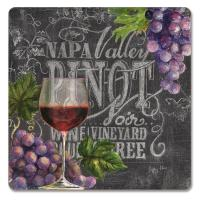 Counter Art Chalkboard Wine Hardboard Coasters Set of 4