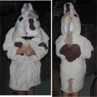 Cream Horse Bath Robe