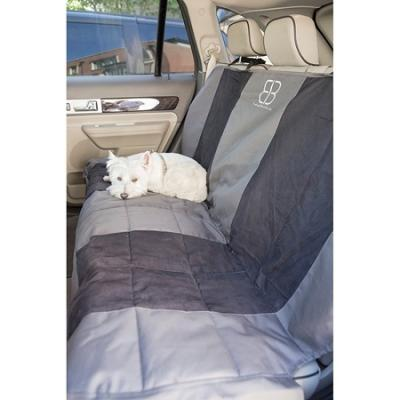 Velvet Rear Seat Protector - Anthracite/Black