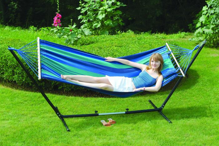 """Stansport Cayman Hammock/Stand Combo - Double -  79"""" x 48"""""""