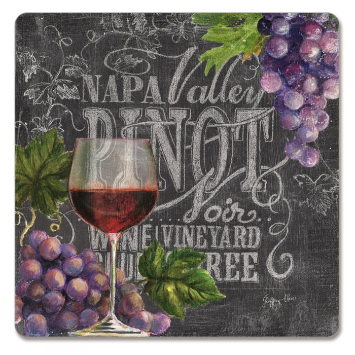 Counter Art Chalkboard Wine Hardboard Coasters Set of 4