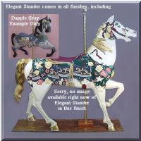 Elegant Stander Dapple Gray Carousel Horse