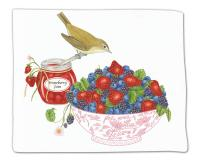 Alice's Cottage Berry Bowl Flour Sack Towel - Single