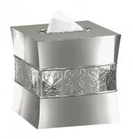 Nu Steel Mercury Glass Boutique Tissue Holder