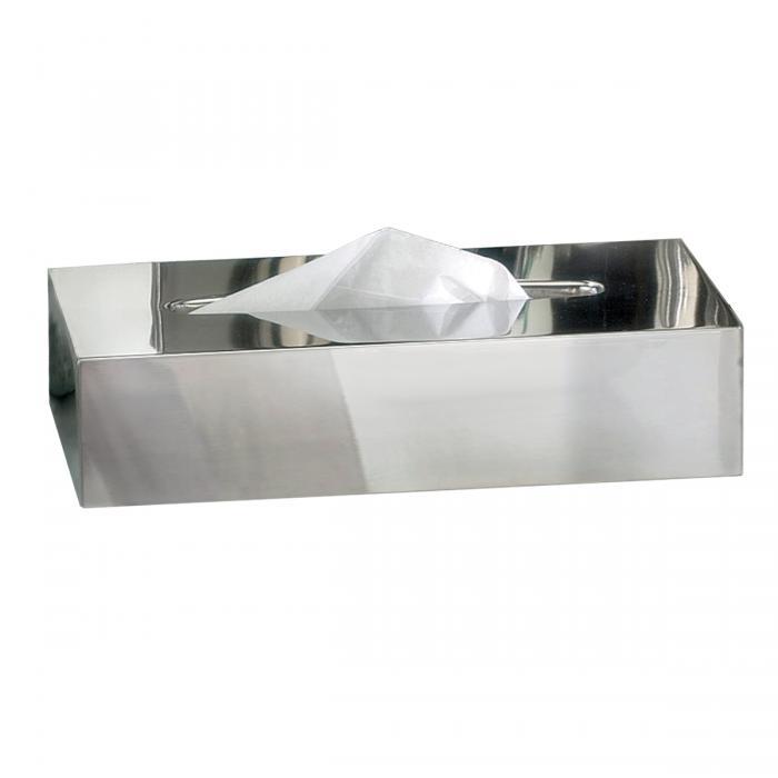 Nu Steel Gloss Rectangle Tissue Holder, Mirror Finish