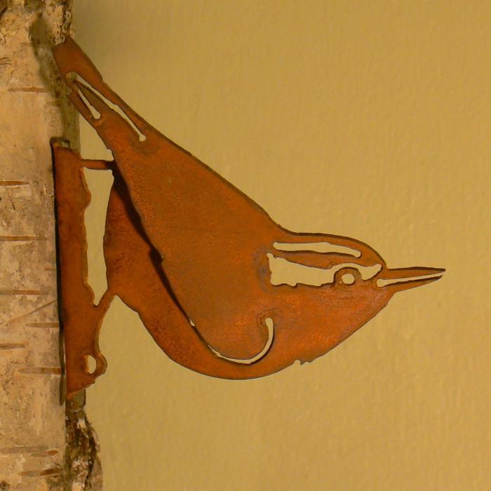 Elegant Garden Design Nuthatch Bird Silhouette
