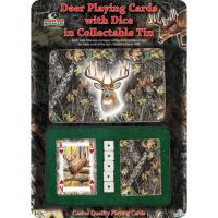 Rivers Edge Products Mossy Oak/deer Cards & Dice In Gift Tin