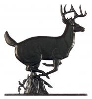 "30"" Buck Weathervane - Garden Black"