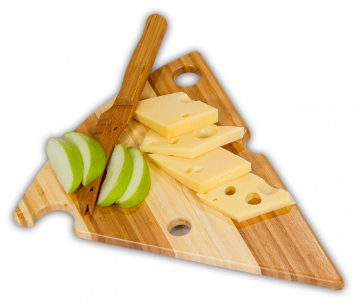 Picnic Plus Alpine Bamboo Cheese Board w/ Cheese Knife
