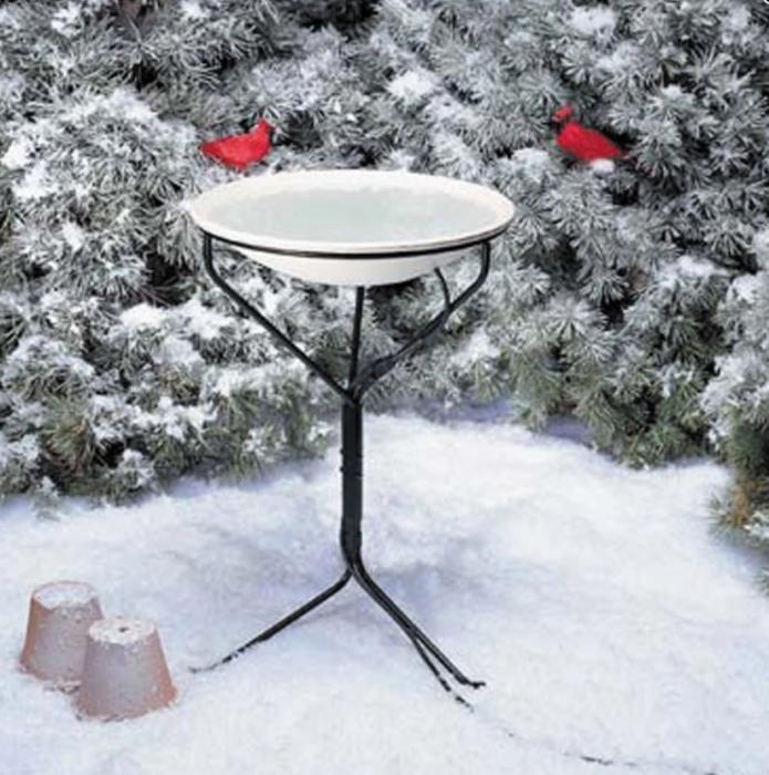"Birds Choice 20"" Heated Birdbath w/Metal Stand"