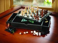 Mainstreet Classics Chess - Checkers - Backgammon - Chinese Checkers