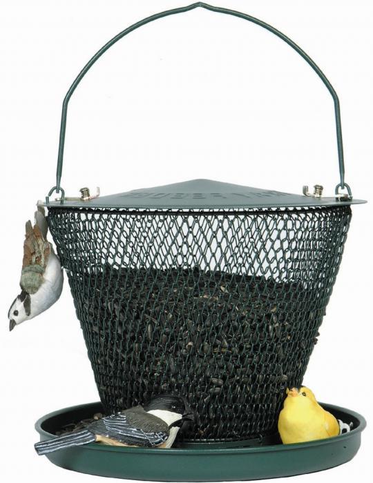 No-No Tray Bird Feeder in Forest Green