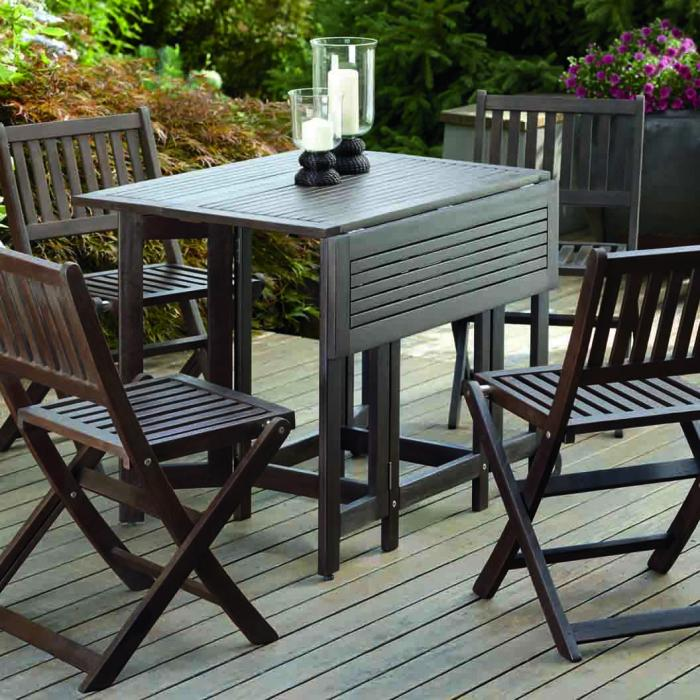 Eucalyptus Folding Chairs (Set of 4)