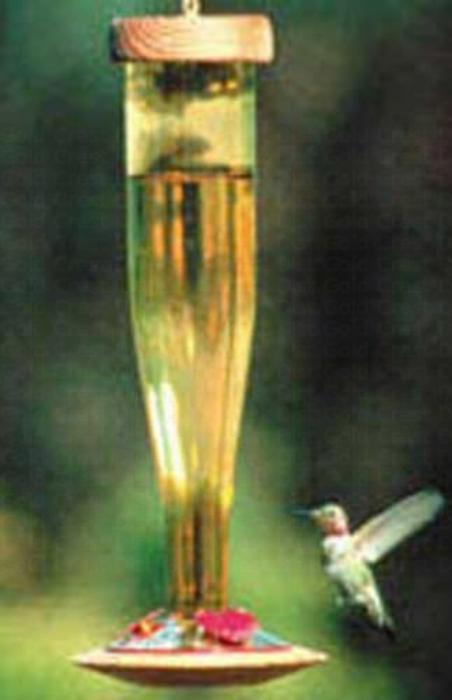 Schrodt Gold Lantern Hummingbird Bird Feeder