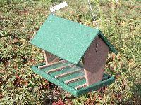 Rubicon Hopper Bird Feeder 4 Quart Hunter Driftwood