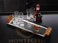 Zodax Barclay Butera Montecito Collection Rectangular Polished Nickel Tray with Resin Handles