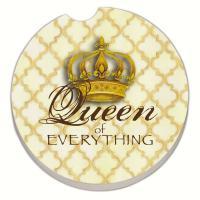Counter Art Golden Queen of Everything Car Coaster