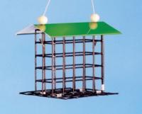 Pine Tree Farms Small Wire Bird Feeder with Roof
