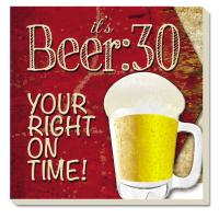 Counter Art Beer 30 Coasters Set of 4