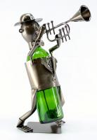 Three Star Trumpet Player Wine Bottle Holder