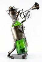 Three Star Trumpet Player Wine Bottle Holder