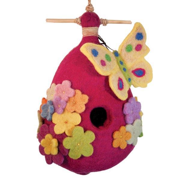 DZI Handmade Designs Butterfly Felt Birdhouse
