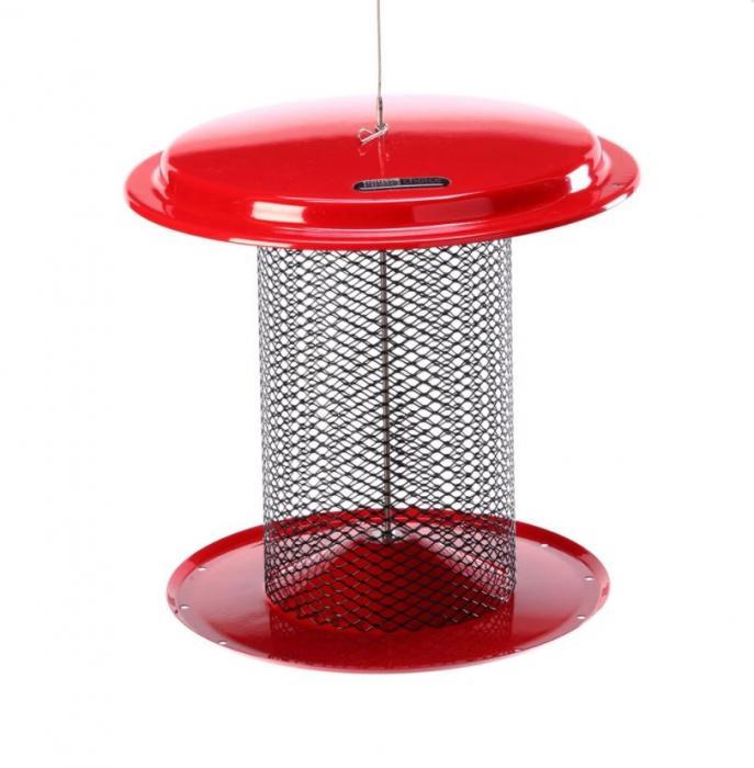 Birds Choice 5 Quart Magnet Mesh Sunflower Feeder - Red