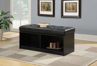 Designs4Go Broadmoor Storage Ottoman - Black