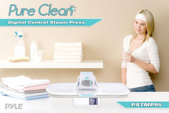 Pyle Pure Clean Digital Table Top Steam Press (PSTMP95)