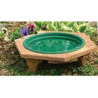 Songbird Essentials Mini Garden Bird Bath Green