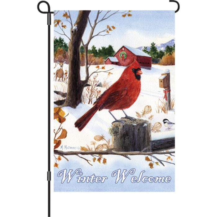 Premier Designs Cardinal Morning Garden Flag