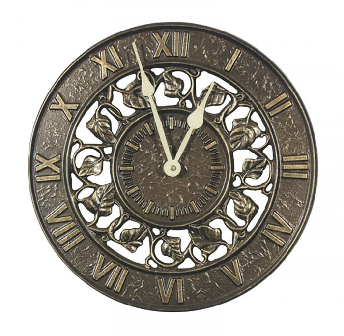 Whitehall Ivy Silhouette Clock - French Bronze