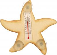 Songbird Essentials Cream Starfish Small Window Thermometer