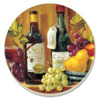 Counter Art Fruit & Wine Coasters Set of 4