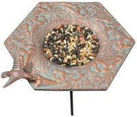 Whitehall Hummingbird Garden Bird Feeder - Copper Verdi
