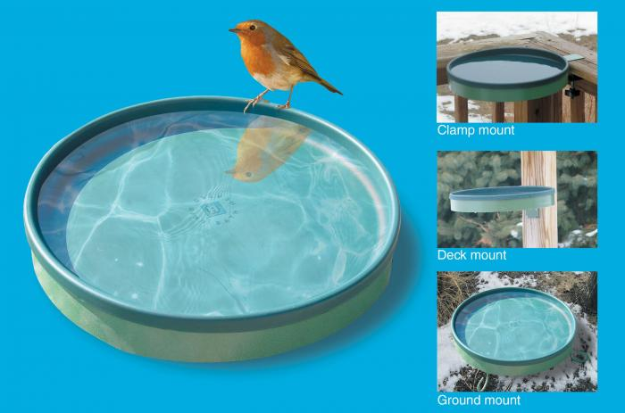 Farm Innovators 3-In-1 Heated Birdbath Green/Light Green