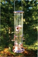Woodlink Audubon Series Brushed Copper Mega 6 Port Tube Bird Feeder