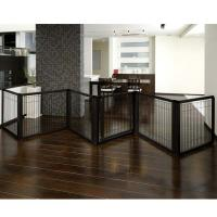 "Richell Convertible Elite Pet Gate 6 Panel Black 197.5"" x 0.8"" x 31.5"""