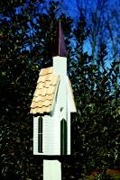 Heartwood Plymouth Birdhouse, White with Shingled Roof