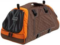 Petego Jet Set Large New Forma Frame Orange Brown Bamboo Pattern