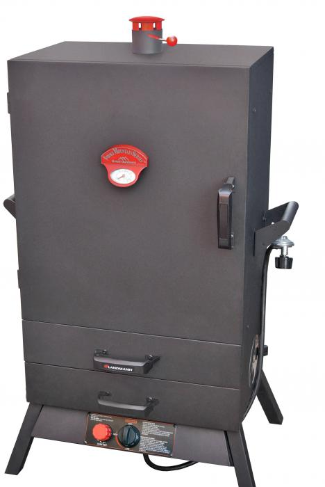 "Landmann USA Smoky Mountain  38"" Vertical Gas Smoker  w/ Two Heat Saving Drawers & Wide Chamber"