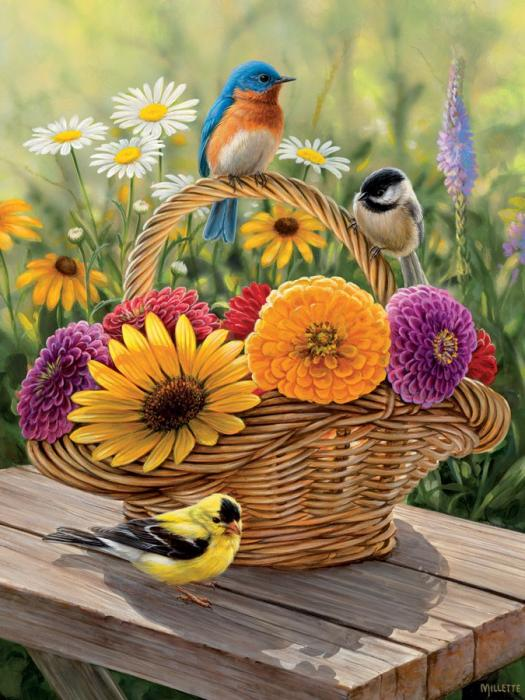 Outset Media Games Summer Bouquet 275 piece Puzzle Easy Handling