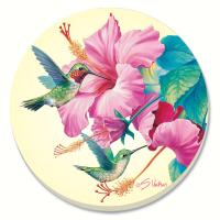 Counter Art Rubythroat & Hibiscus Coaster Gift Set