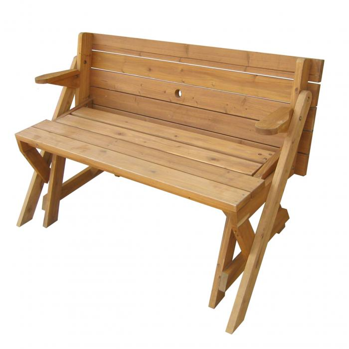 Merry Products Partly Assembled, Interchangeable Picnic Table/Garden Bench