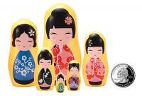 The Original Toy Company Kokeshi Micro Matryoshka's