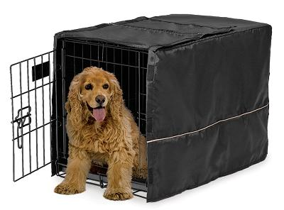 Mid-West Quiet Time Black Pet Crate Cover, 30""