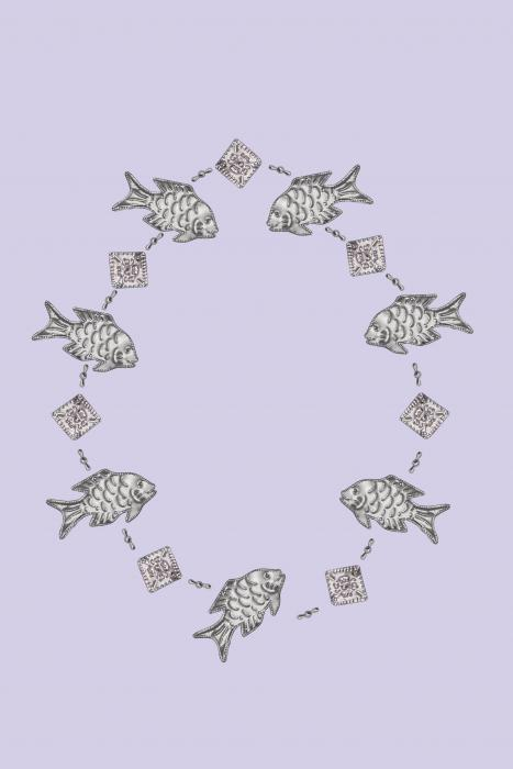 Songbird Essentials Fish Punched Metal Garland